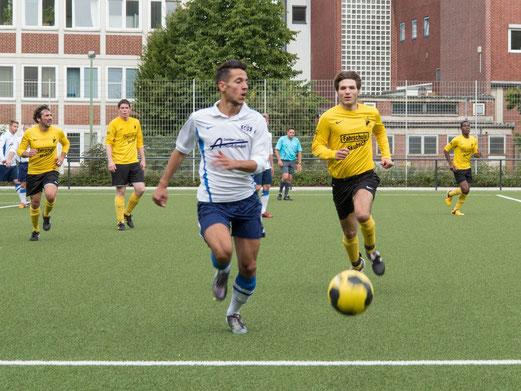Erste Mannschaft im Sonntagspiel gegen SG Schönebeck (Foto: r.f.).