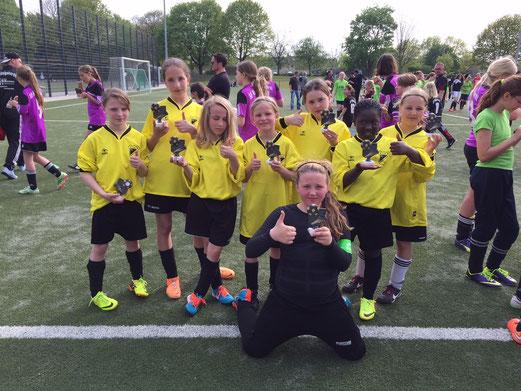 U13 Juniorinnen beim Tag des Mädchenfußballs in Sterkrade. - Foto: cbra.