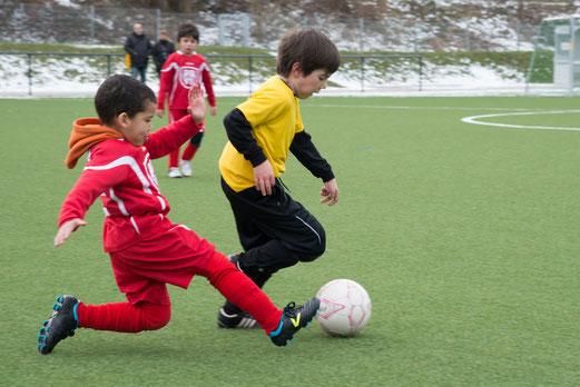 TuS Bambini 1 im Spiel gegen TuS Essen-West 81. (Foto: r.f.).