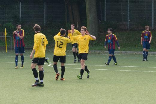 Anschlusstreffer zum 1:2: Zweite Mannschaft im Spiel bei BV Altenessen 2 (Foto: r.f.).
