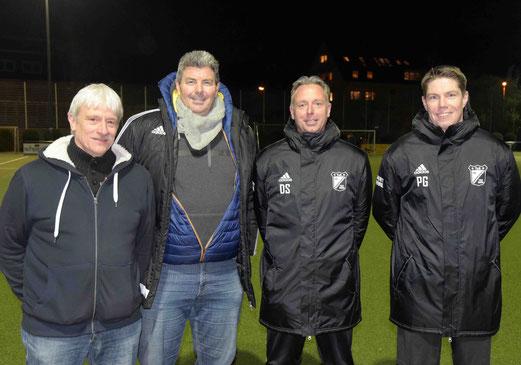 Neues Trainerteam auch für die Zweite Mannschaft: v.l. Co-Trainer Dirk Gruhs, der neue Sportliche Leiter Mike Lohmann, Co-Trainer Daniel Schempershofe und Trainer Patrick Gudden