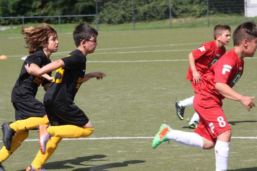 TuS E1-Jugend im Auswärtsspiel am Lichtenhorst in Vogelheim. - Fotos: o.k.