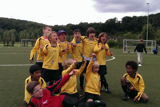 Zwei Siege, zwei Unentschieden: TuS F2-Jugend wurde Gruppenbester in Mintard (Foto: m.d.).