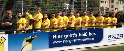 Zuversicht vor dem Anpfiff: Erste Mannschaft im Pokal gegen VfB Frohnhausen. - Foto: uwei.