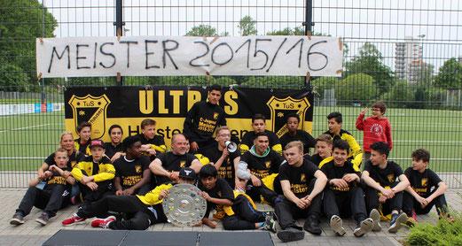TuS C-Jugend Saison 2015/16 - interne Meisterfeier, 25.05.2016. - Foto: a.s.