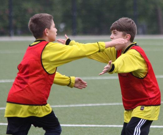 Überzeugende Vorstellung: TuS E3-Jugend beim 10:0 Heimsieg gegen ESC Preußen 3. - (Foto: p.d.).