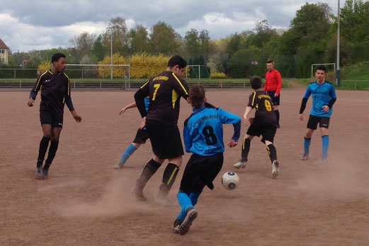 TuS C-Jugend im Auswärtsspiel bei Sportfreunde Katernberg. - Foto: p.a.