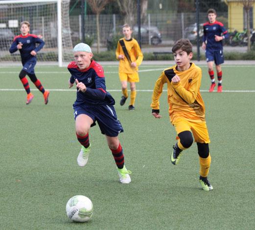 TuS C1 im Freundschaftsspiel gegen den Heisinger SV - Endstand: 0:9 (Foto: pad)