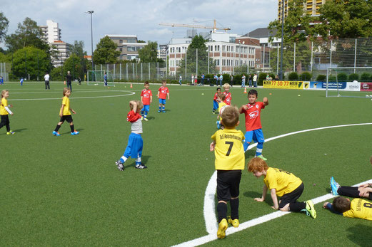 TuS Bambini 2 im Spiel gegen Eintracht Gelsenkirchen (1:4). - (Foto: mal).