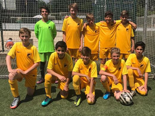 TuS D1-Jugend beim D-Jugend-Turnier in Niederwenigern. - Foto: pad.