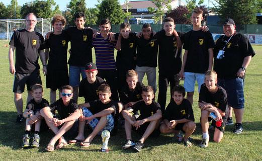TuS C-Jugend beim U15-Turnier der Trofeo Delfino in Rimini, Pfingsten 2014. - (Foto: abo).