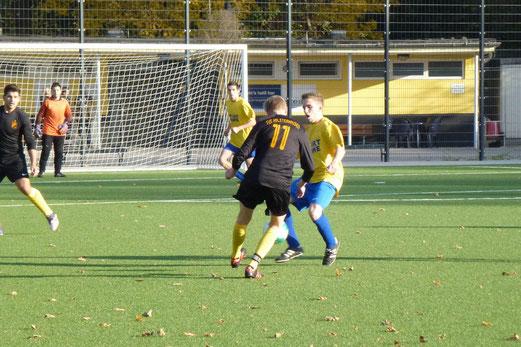 3. Mannschaft: 1:2 gegen lautstarke Gelb-Blaue an der Pelmanstraße (Foto: mal).