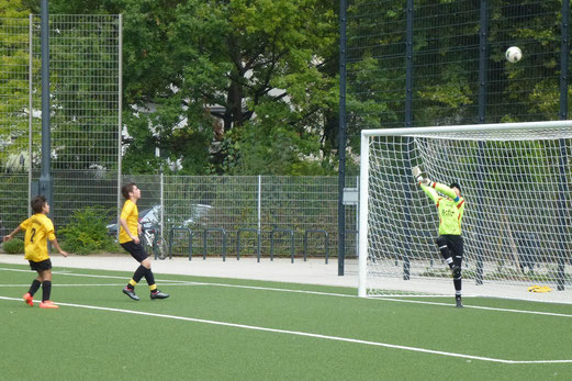 TuS C-Jugend im Heimspiel gegen FC Stoppenberg, Pelmanstraße, 06.09.2014. - Foto: mal.