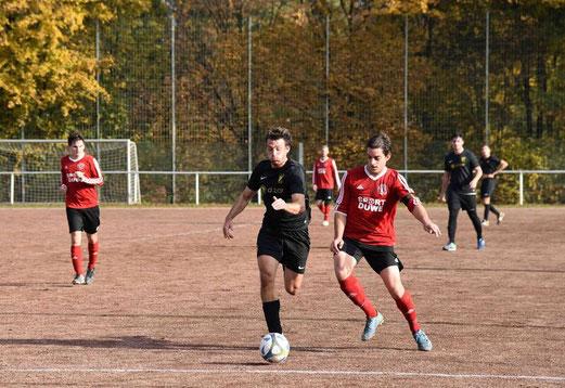 TuS Zweite Mannschaft im Spiel bei SC Frintrop 05/21 2. - Fotos: a.s.