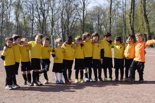 TuS Bambini 2 beim Bambini Fußball Treff an der Hagenbecker Bahn (Foto: b.b.).