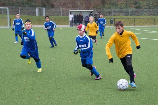 Klare Führung noch verspielt: TuS E1-Jugend im Heimspiel gegen VfB Frohnhausen. - (Foto: r.f.).
