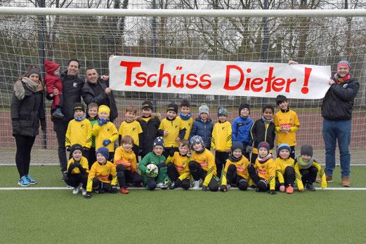 """(März 2018) Bambini 3 und Bambini 1 sagen gemeinsam """"Tschüss Dieter"""""""