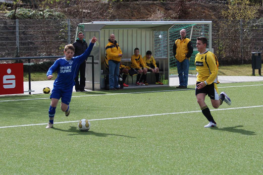 TuS C-Jugend im Heimspiel gegen RuWa Dellwig. - (Foto: abo).