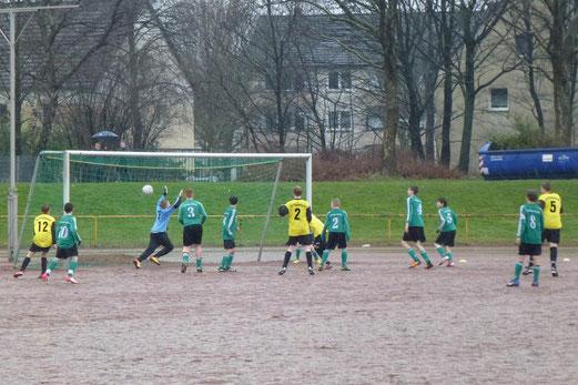 1:0 in Minute Eins. C-Jugend beim 13:0 Auswärtserfolg am Wasserturm. (Foto: mal).