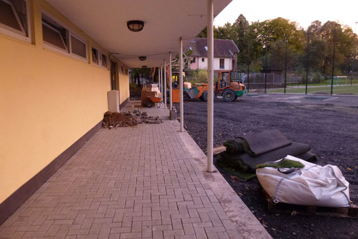 16.10.2012: Frisch gepflastert. (Foto: mal).