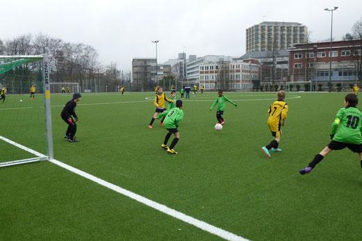 Mit 5:3 blieb die E1 im Heimspiel gegen Eintracht Borbeck erfolgreich. (Foto: mal).