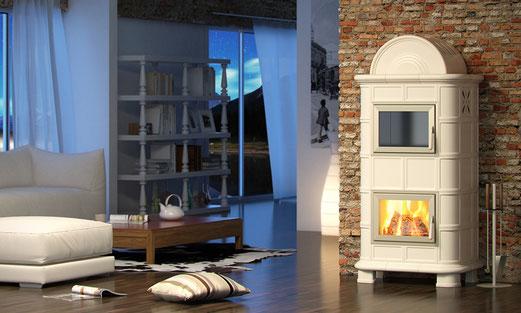stufa legna maiolica palladio bora