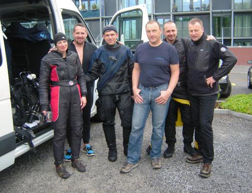 von links nach rechts: Annette, Christian, Siggi, Gerhard, Richi und Jürgen