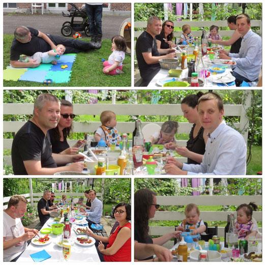 un BBQ et des amis pour profiter d´une belle journée d´été. -avec Lars et Monika, Erin et Jacob, Dora