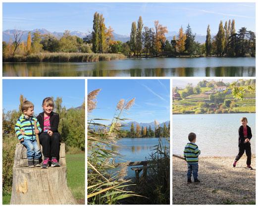 Autour du lac de St-André avec cousine Mélyne