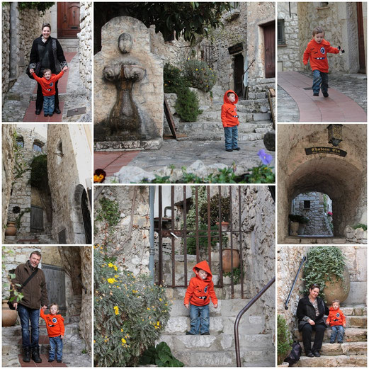 Promenade à Eze, petit village de charme perché sur les hauteurs de la Côte d'Azur.