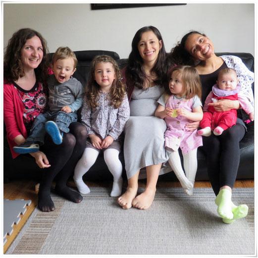 """""""des copines et des mômes"""" : Christa, Victor, Liva, Liliana, Emma, Dalila, Solveig"""