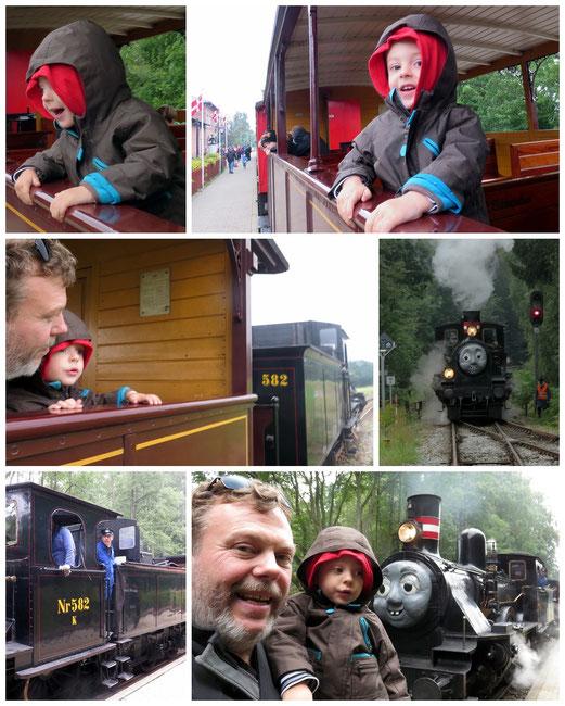 Une sortie père-fils mémorable : à la rencontre du célèbre train à vapeur Thomas :)