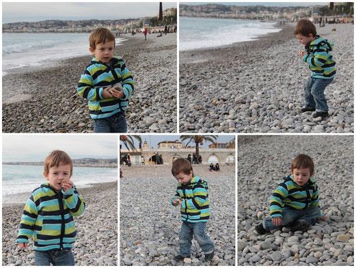 Nice et sa plage de galets... chouette terrain de jeux !