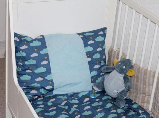 Un premier DIY pour le lit du presque grand Viking : 26 mois, on enlève les barreaux, on change de couette mais on continue d´utiliser le lit bébé)