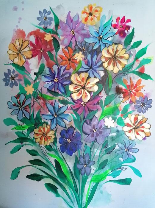 Blumen 60x80cm Mai 2021