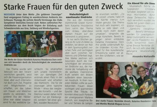 Vernissage Soroptimist Ennstal / Katarina Hvozdarova 'Daro 8.6.2018 Schloss Thannegg