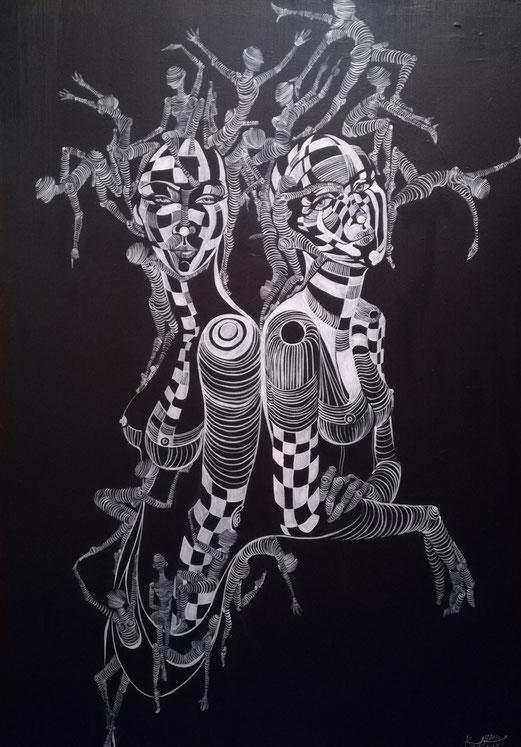 Der Tanz 140 x 100 Acryl Malerei