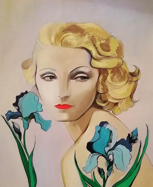 Tribute to Brigitte Helm 60x50 cm kombinierte Technik Mai 2021