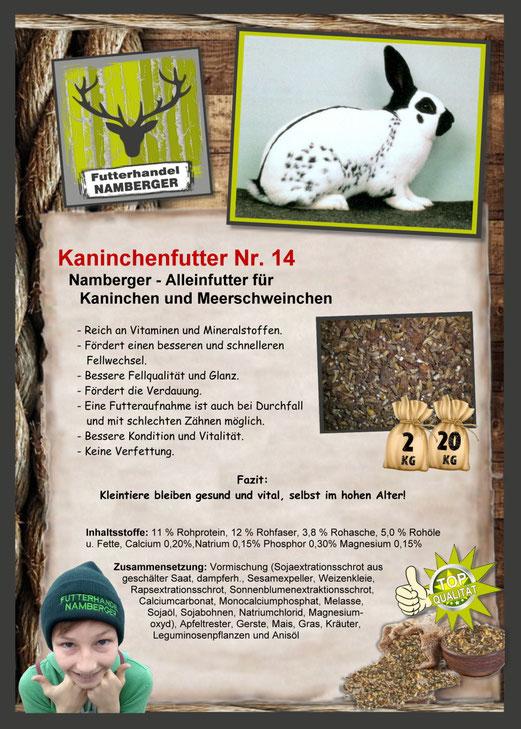 Futter: Kaninchenfutter Nr. 14