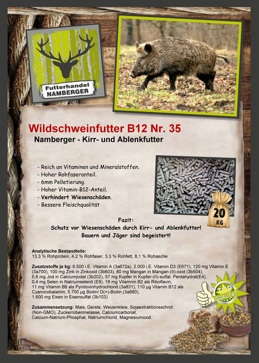 Futter: Wildschweinfutter B12 Nr. 35