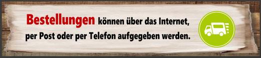 Futterhandel Namberger: Bestellungen über Internet, Post und Telefon