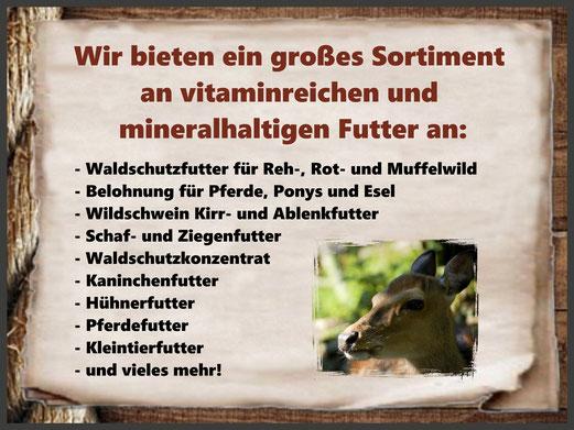 Futterhandel Namberger: Großes Sortiment an vitaminreichen und mineralhaltigen Futter