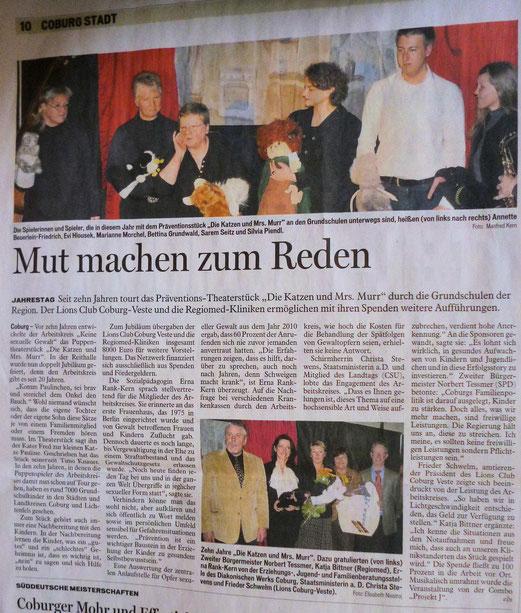 Quelle: Coburger Tageblatt vom 06.03.2012