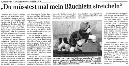 Quelle: Neue Presse Coburg vom 20.11.2002