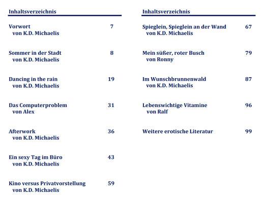 Inhaltsverzeichnis eBook/Buch: So sexy ist SAP! Band 6 von K.D. Michaelis