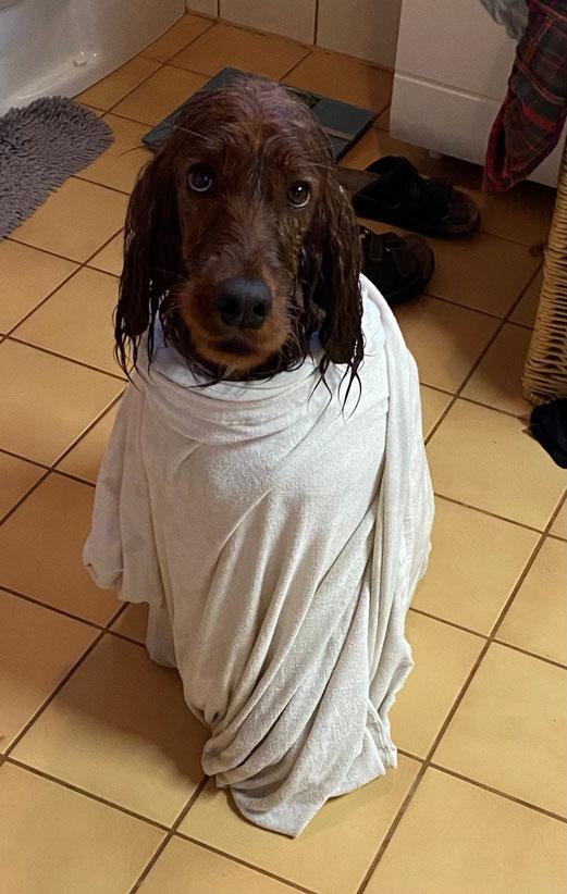 Lara macht das Baden sichtlich Spaß :-)
