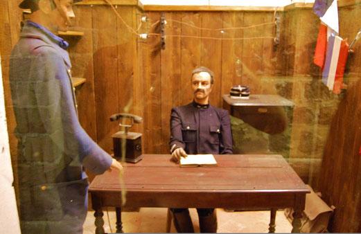 Das Büro des Kommandeurs in Fort de Vaux.