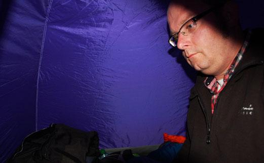 Camping und Regen...Das macht keinen Spaß.