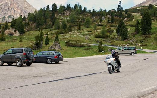 Einstieg in den Passo di Giau.