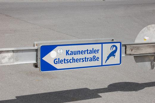 Eingang zur Kaunertaler Gletscherstrasse.